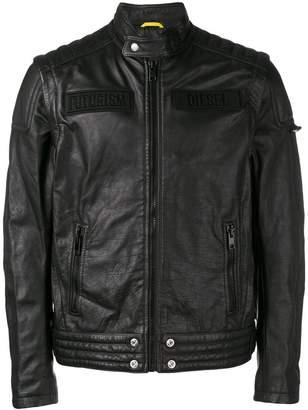 Diesel removable sleeve biker jacket