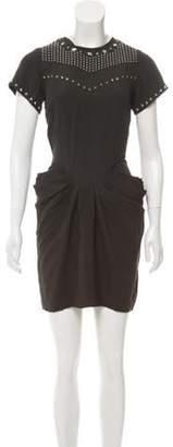 Isabel Marant Embellished Crepe Dress w/ Tags Black Embellished Crepe Dress w/ Tags