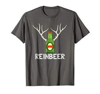 Reinbeer T-Shirt Funny Reindeer Beer Bottle Christmas Gift