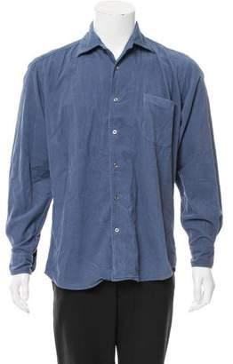 Malo Corduroy Button-Up Shirt