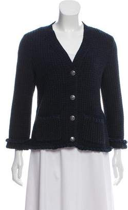 Chanel Button-Up Knit Cardigan