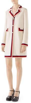 Gucci Ribbon Trim Wool Coat