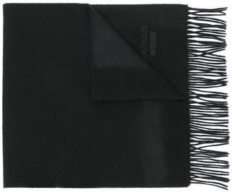 Moschino fringe logo scarf