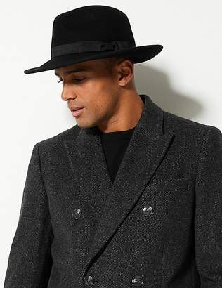 Marks and Spencer Pure Wool Fedora with StormwearTM