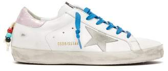 Golden Goose Superstar Beaded Leather Trainers - Womens - White Multi