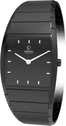 Obaku V142LBBSB Ion Plated Stainless Steel Case Black Steel Bracelet Women's Watch