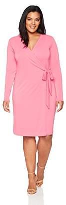 Lark & Ro Women's Plus-Size Wrap Dress