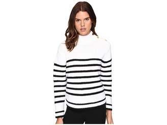Kate Spade Stripe Alpaca Sweater Women's Sweater