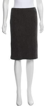 Alberta Ferretti Wool & Cashmere-Blend Knee-Length Skirt Grey Wool & Cashmere-Blend Knee-Length Skirt
