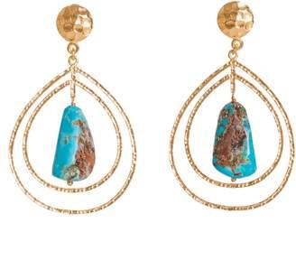 Christina Greene - Teardrop Earrings in Turquoise