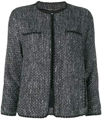 Blumarine faux fur cuff bouclé jacket