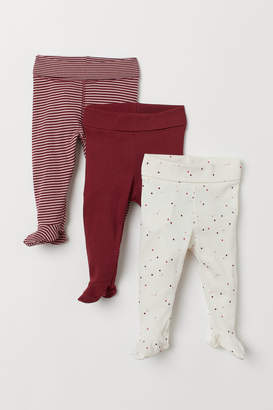 H&M 3-pack Leggings - Red