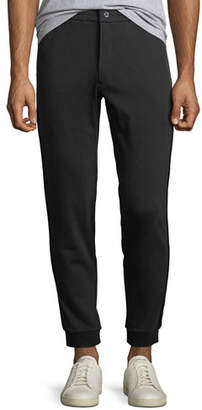 Michael Kors Men's Jogger Sweatpants w/ Leather Trim