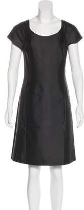 Armani Collezioni Silk-Blend Knee-Length Dress