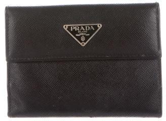 pradaPrada Saffiano Compact Wallet