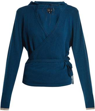 PEPPER & MAYNE Hooded cashmere wrap top