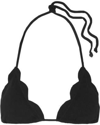 Marysia Swim Broadway Scalloped Triangle Bikini Top - Black