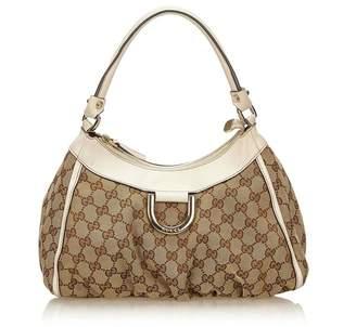 Gucci Vintage Guccissima Canvas D-Ring Shoulder Bag