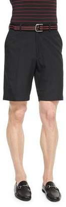 Peter Millar Salem High-Drape Performance Shorts, Black $85 thestylecure.com
