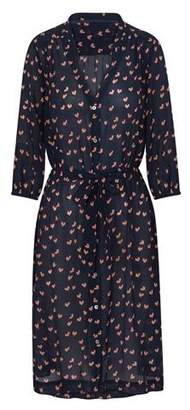 Trilogy Willow Dress in Navy and Pink Hearts