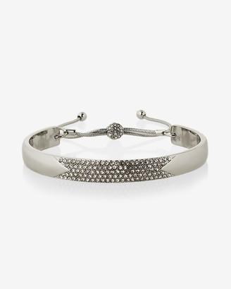 Express Pull Chain Pave Bangle Bracelet