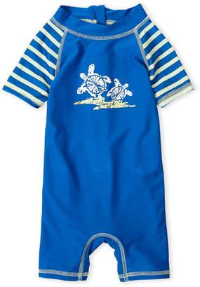 Floatimini Infant Boys) Turtle Stripe Rash Guard Romper