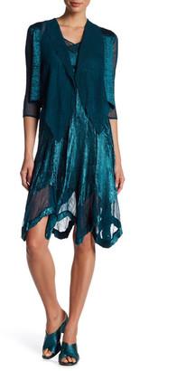 KOMAROV Textured V-Neck Dress & Jacket - 2-Piece Set (Petite) $418 thestylecure.com