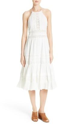 Women's Rebecca Taylor Gauze Midi Dress $595 thestylecure.com