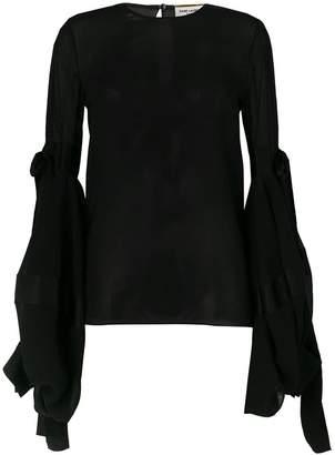 Saint Laurent oversized sliding sleeves blouse