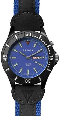 Dakota Men's Quartz Metal and Leather Watch