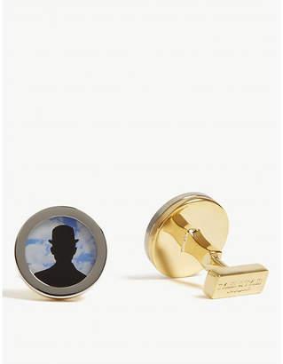 TYLER & TYLER Bowler hat round cufflinks