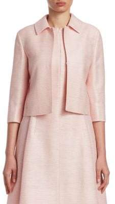 Akris Punto Striped Silk Jacket