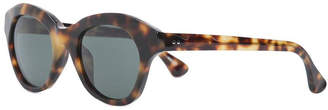 Linda Farrow Dries van noten x blurred leopard print sunglasses