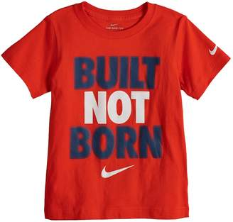 "Nike Boys 4-7 Built Not Born"" Graphic Tee"