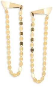 Lana 14K Gold Long Nude Drop Earrings