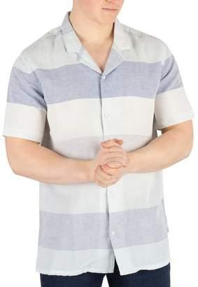 Men's Cubano Shortsleeved Shirt, Blue