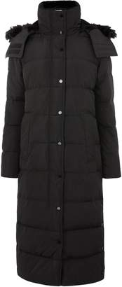 Next Womens Warehouse Black Maxi Padded Hooded Coat