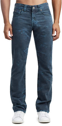 True Religion MENS CRINKLE STRAIGHT JEAN W/ FLAP