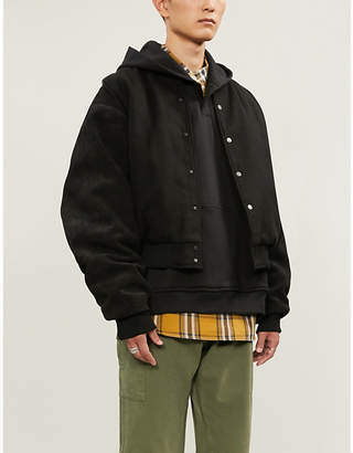Fear Of God Henley oversized cotton-jersey hoody