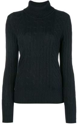 N.Peal cable knit roll neck sweater