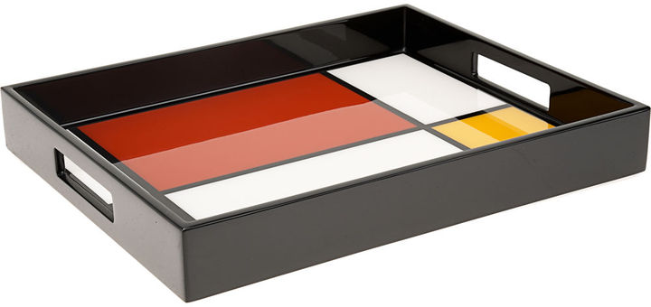 Pacific Connections Mondrian Mini Handle Tray