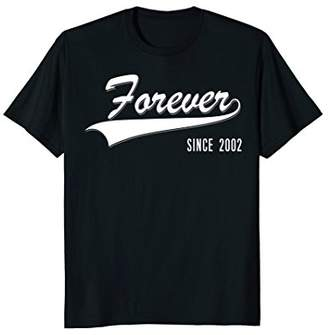 16th Anniversary gifts Forever since 2002 couple Tshirt