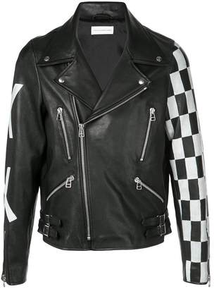Faith Connexion contrasting detail biker jacket