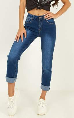 Showpo Michaela Jeans in mid wash denim - 6 (XS) High Waisted Jeans