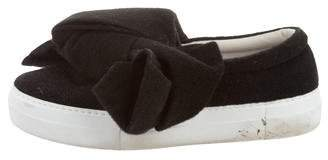 Joshua Sanders Bow-Accented Slip-On Sneakers