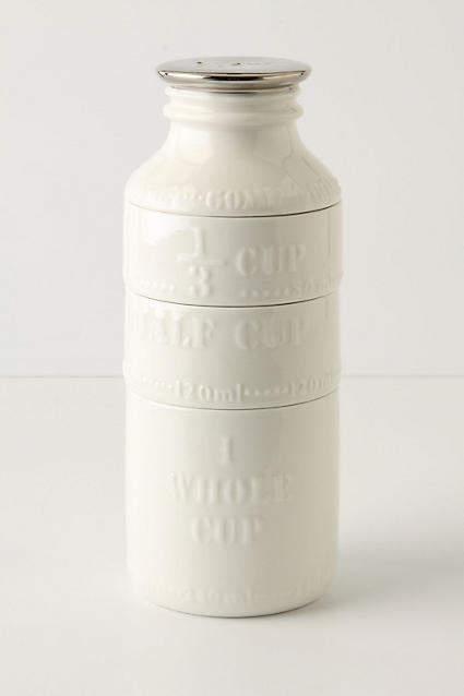 Anthropologie Milk Bottle Measuring Cups