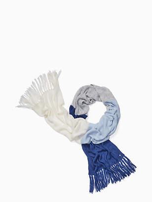 Kate Spade Brushed colorblock blanket scarf