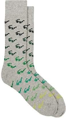 Corgi Men's Sunglasses-Motif Cotton-Blend Mid-Calf Socks