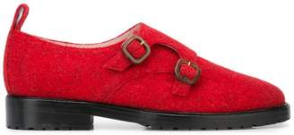 Leandra Medine textured buckle brogues