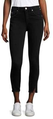 Amo Twist-Hem High-Rise Skinny Jeans